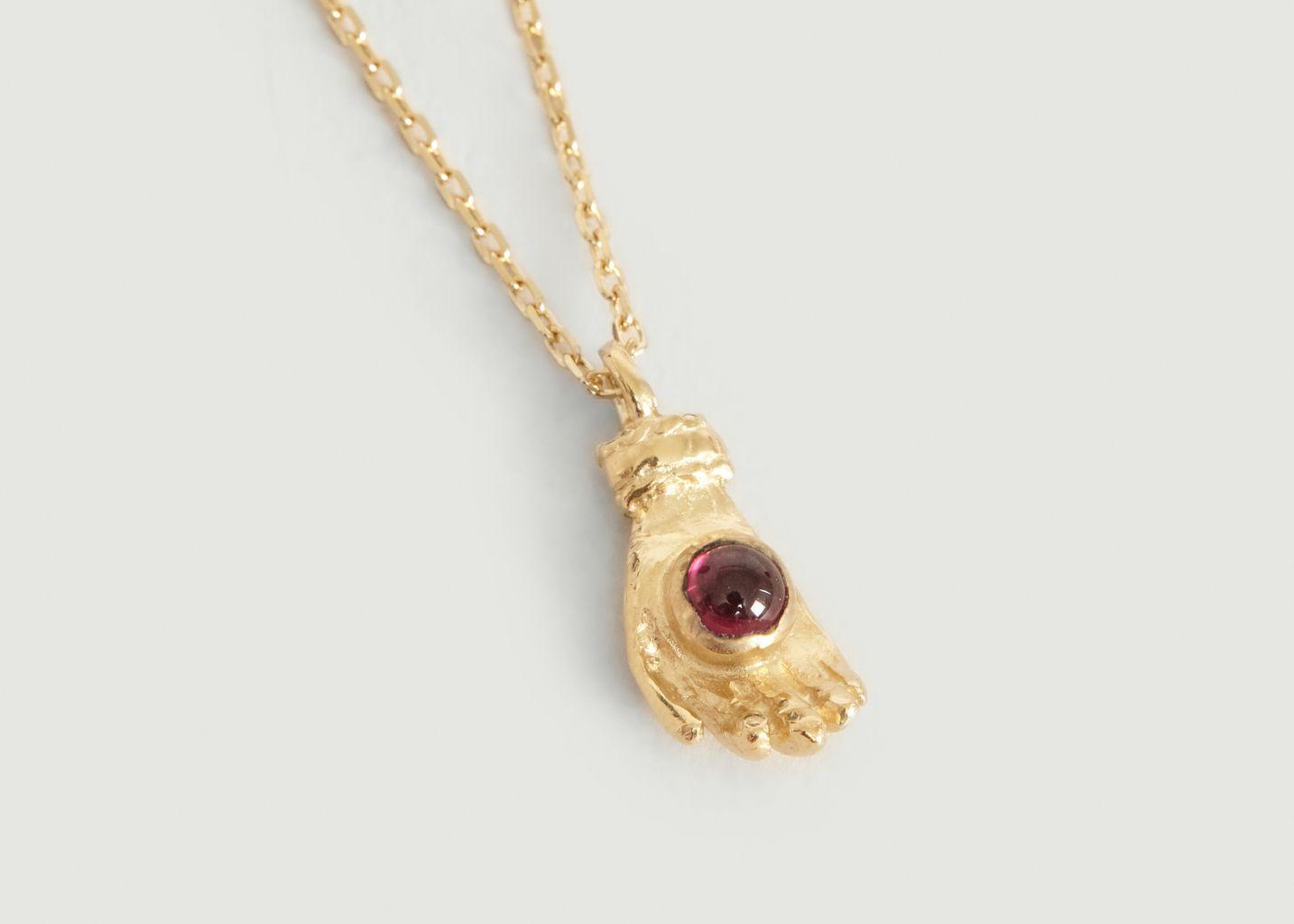 Collier chaîne et pendentif main grenat Naby - Monsieur