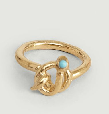 Illy small vermeil ring with turquoise