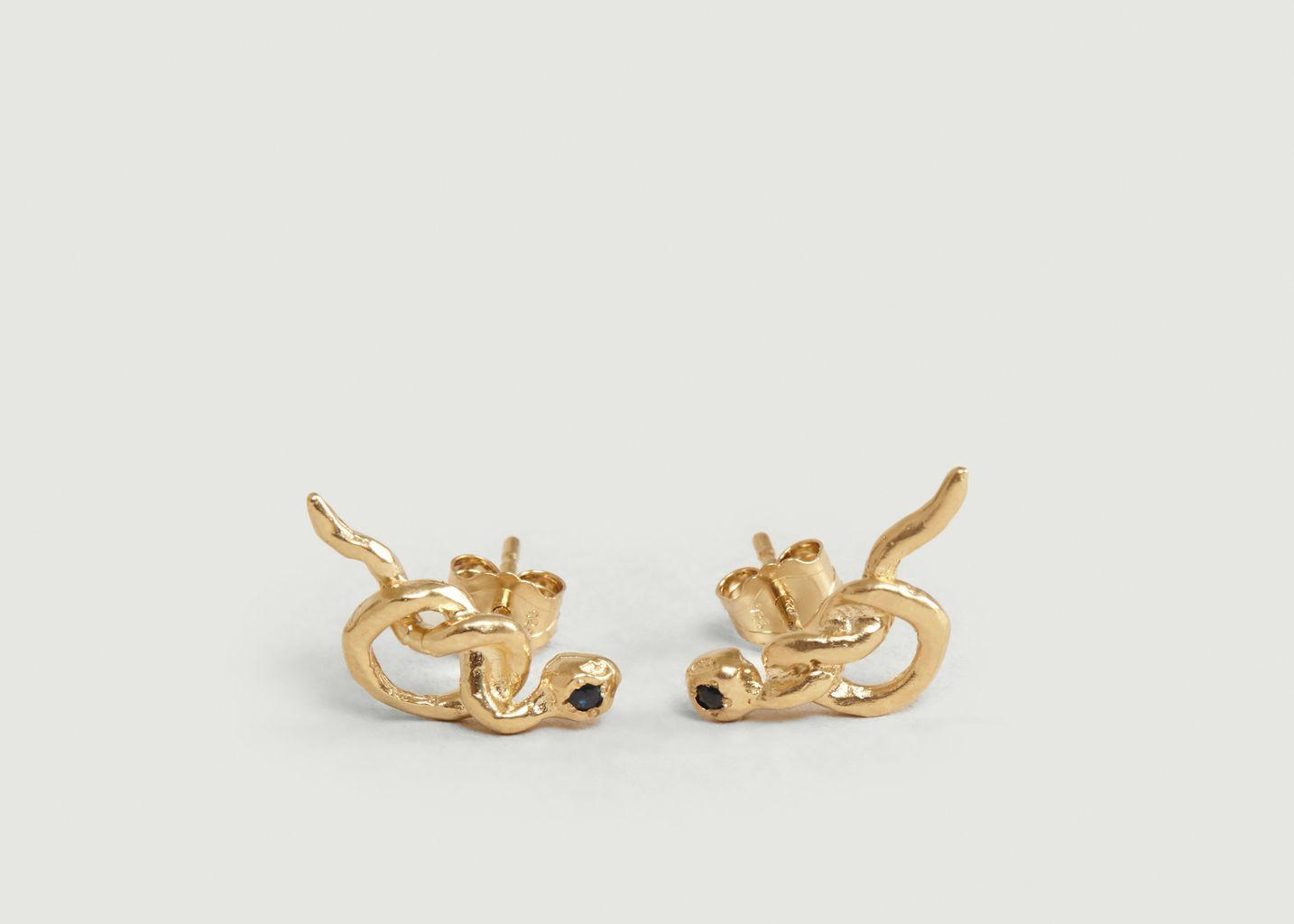Boucles d'oreilles en vermeil Illy serties  - Monsieur