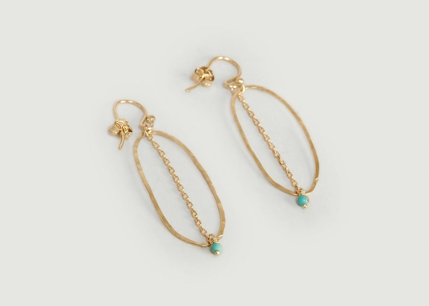 Boucles d'oreilles pendantes avec turquoise Bohème - Monsieur
