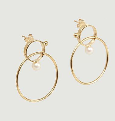 Boucles d'oreilles pendantes avec perles Frida