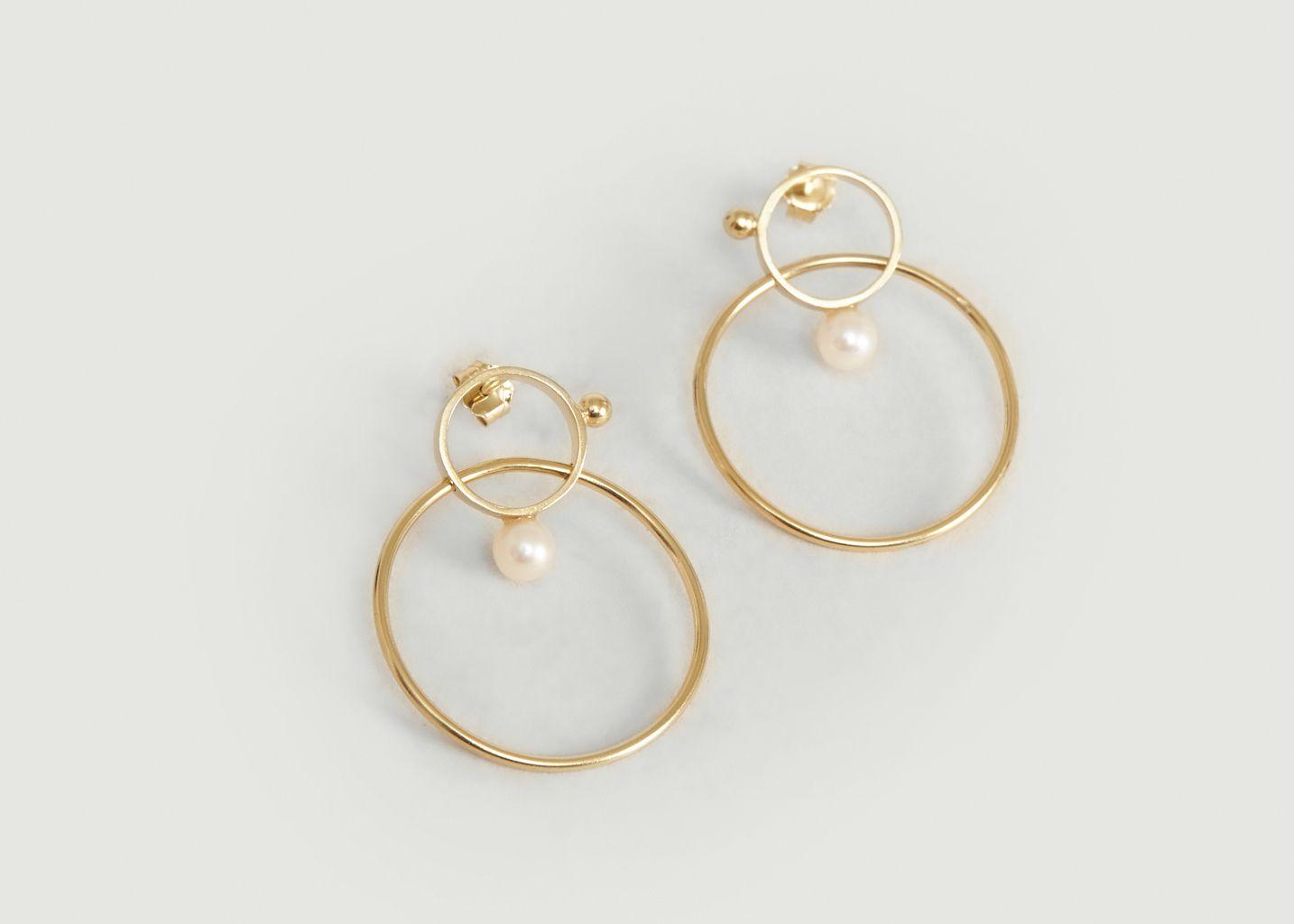 Boucles d'oreilles pendantes avec perles Frida - Monsieur