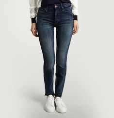 Jean High Waisted Looker Ankle Fray Skinny