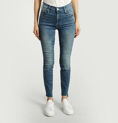 Jean Stunner Zip Ankle Step Fray