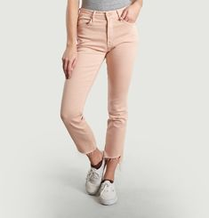 Rascal Ankle Step Frayed Jeans