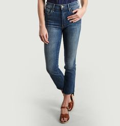 Jean Insider Crop Step Fray