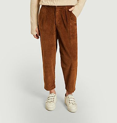 Corduroy loose trousers