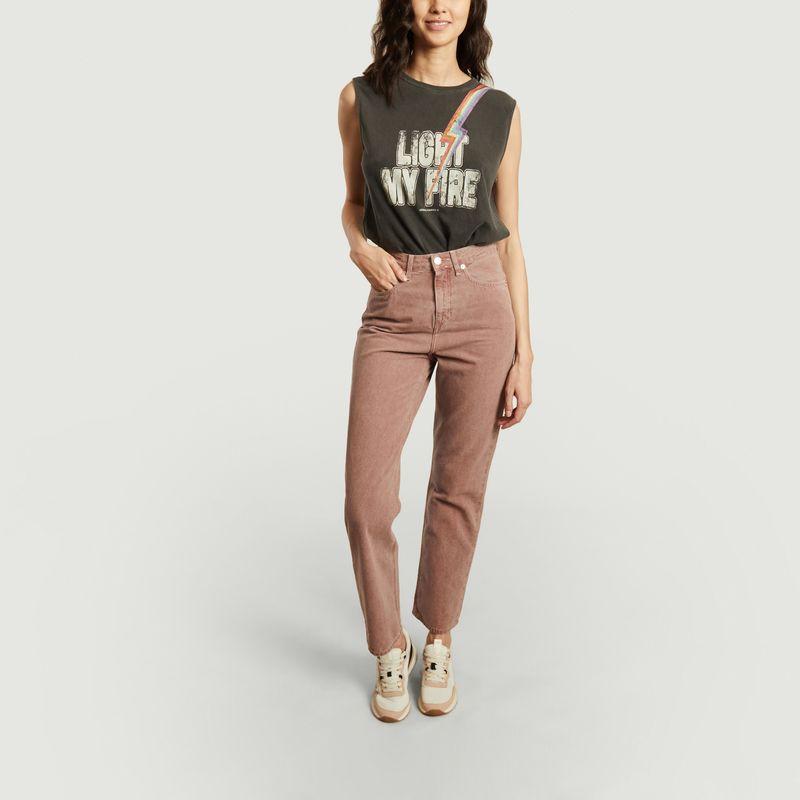 Jean droit taille haute teinté Relax Rose - Mud Jeans