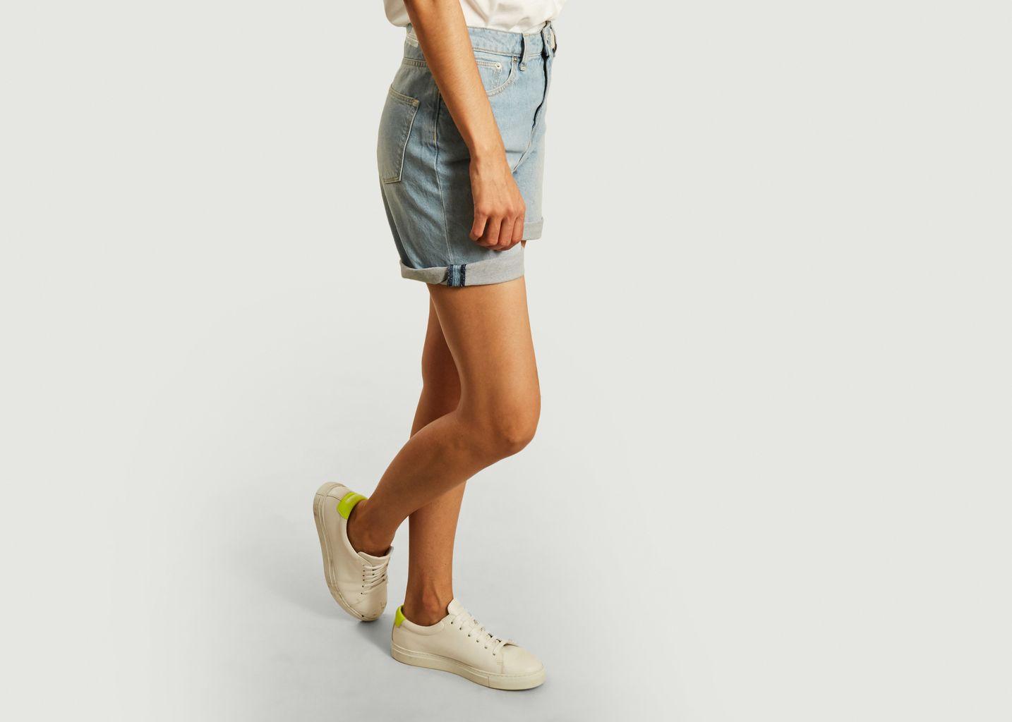Short en jean délavé Beverly - Mud Jeans