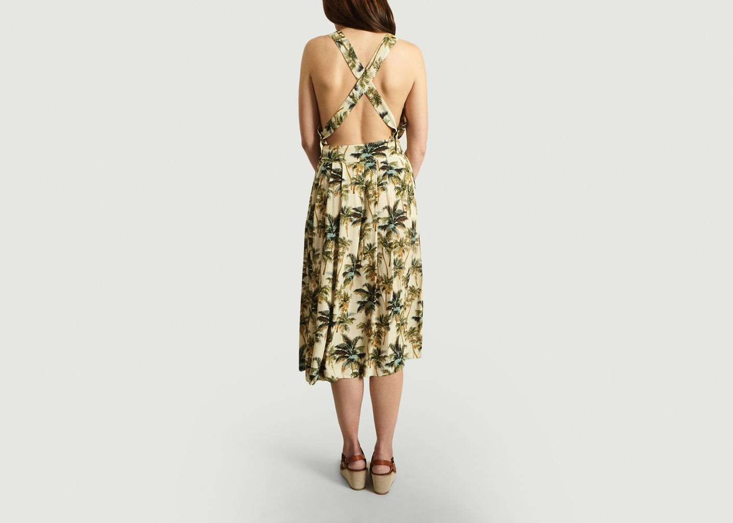 Robe-Tablier Motif Tropical Loreen - My Sunday Morning