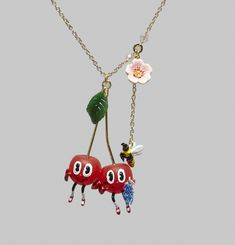 Silly Cherry Necklace