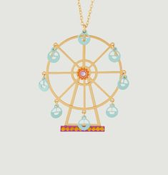 N2 Ferris Wheel Pendant Necklace