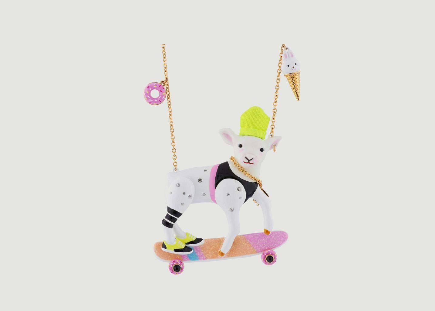 Collier Zoé L'Agnelle Coréenne Sur Son Skateboard  - N2