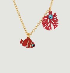 Coral & Clown Fish Necklace