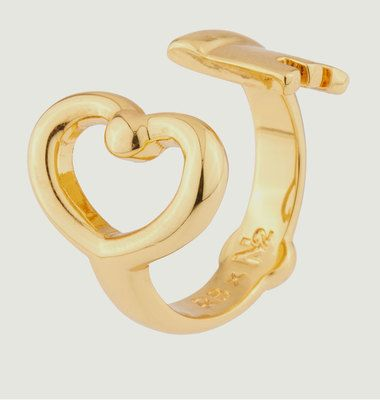 Key & Heart Ring