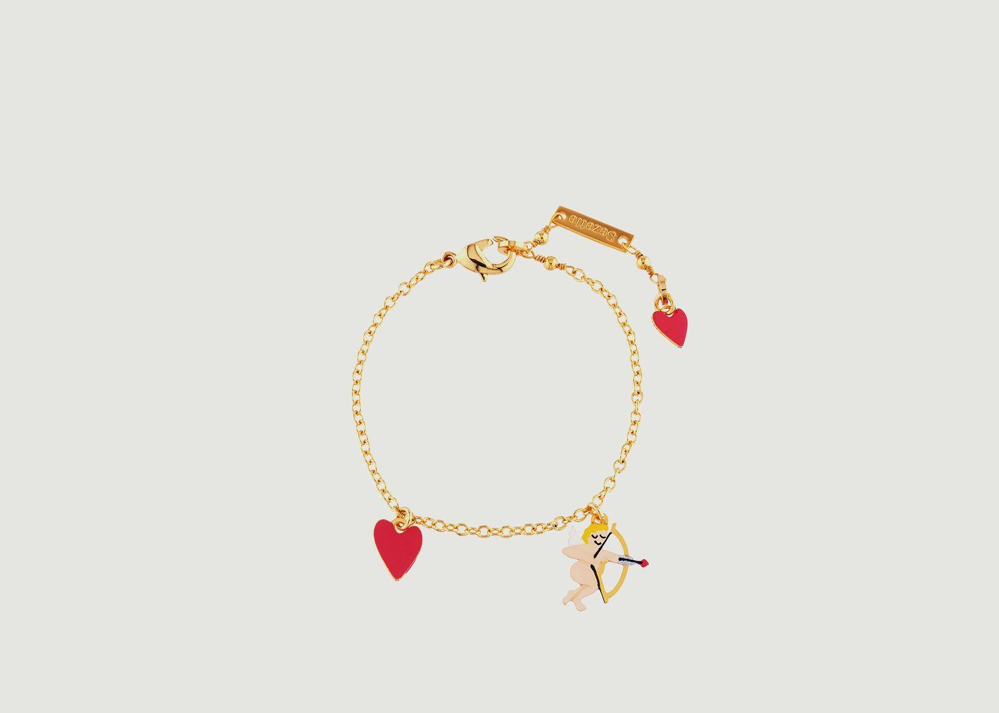 Bracelet Pampilles Cupidon et Petit Cœur - N2