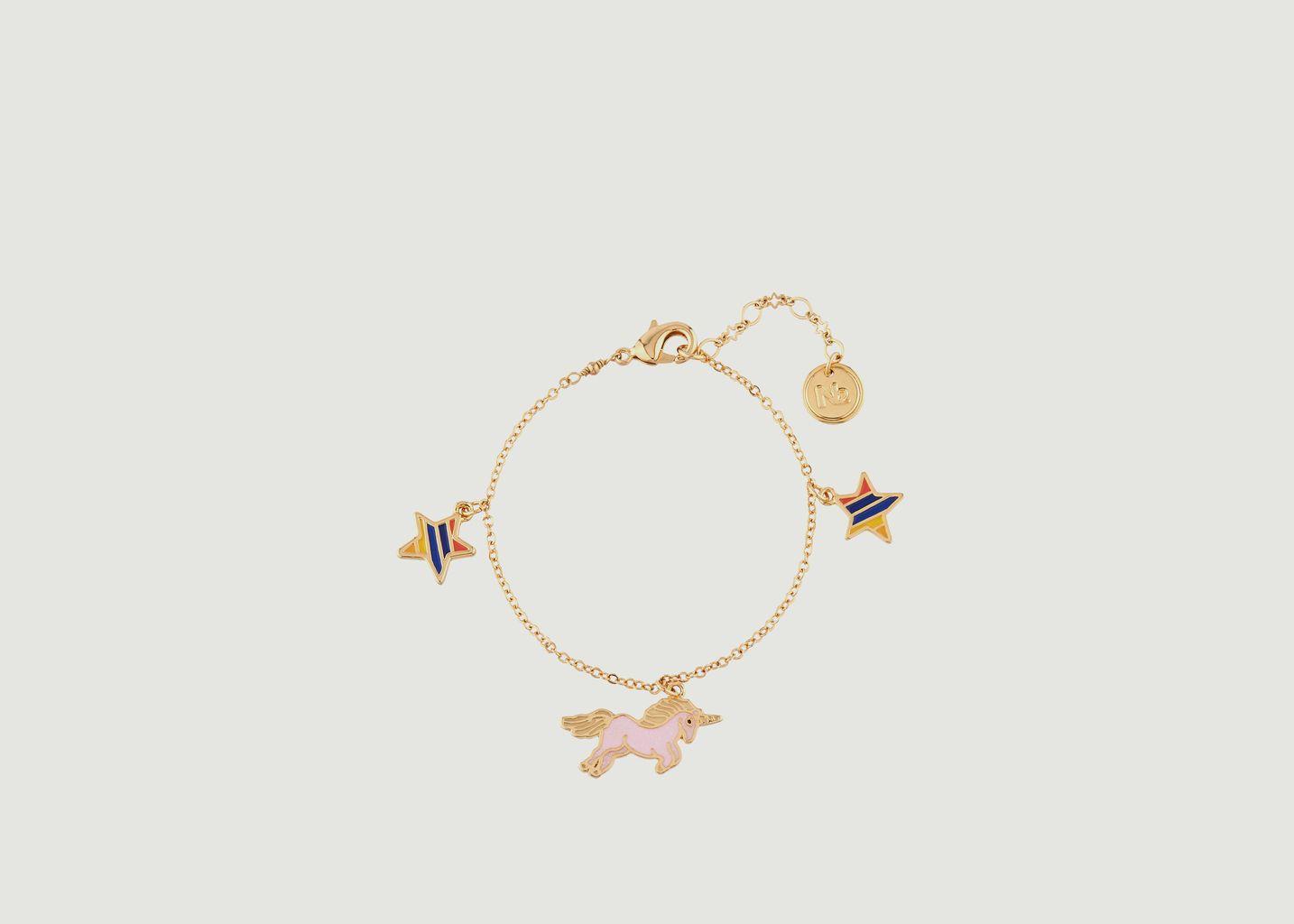 Bracelet Pampilles Licorne et Etoiles - N2