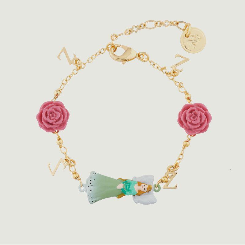 Bracelet Fin Belle Endormie Et Roses - N2
