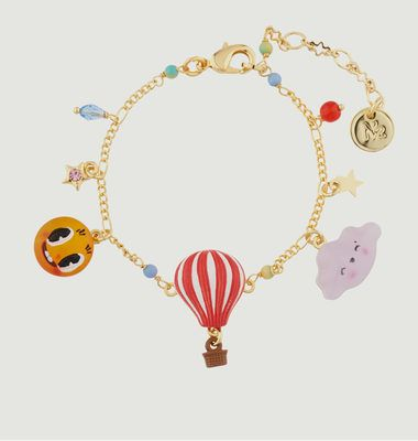 Cloud, Hot Air Balloon & Sun Charm Bracelet