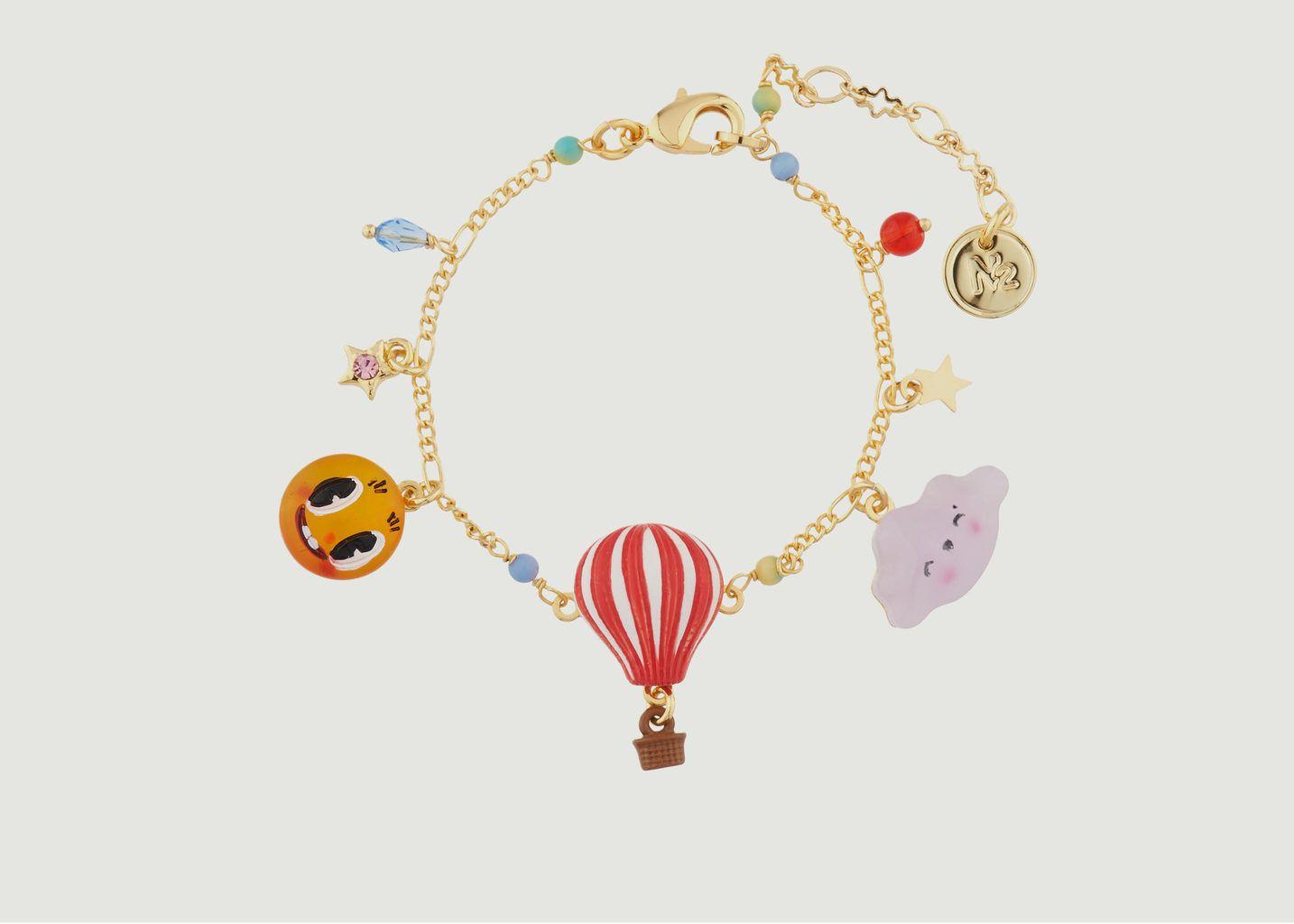 Bracelet à Chaînes Nuage, Soleil et Montgolfière - N2