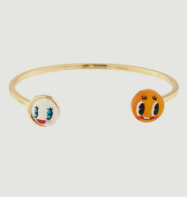 Bracelet Jonc Soleil Rieur et Lune Coquette