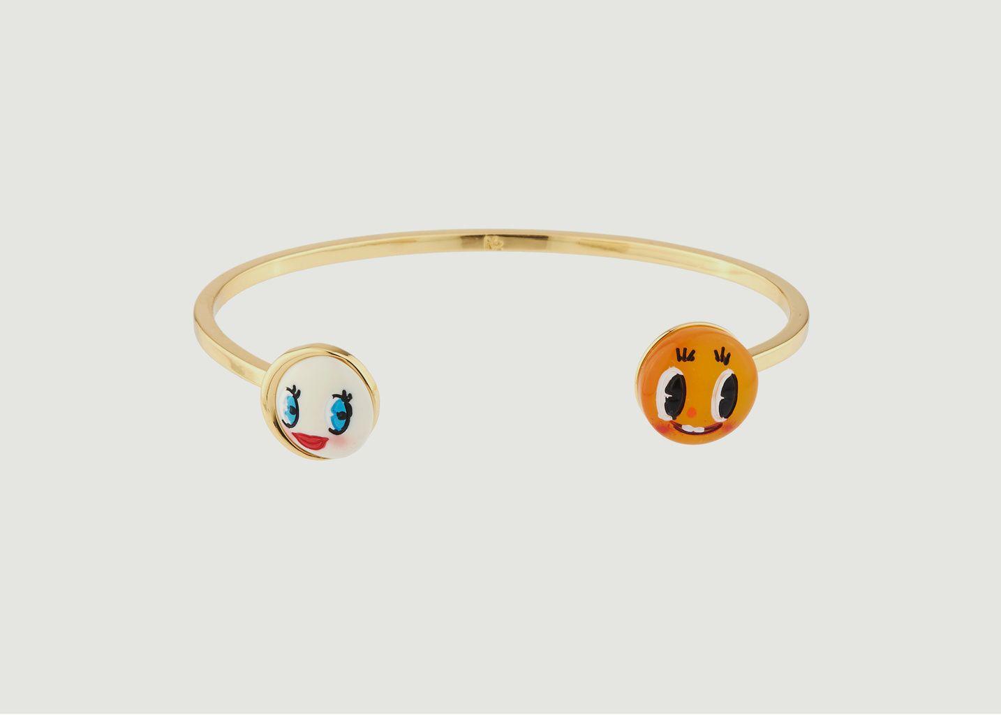 Bracelet Jonc Soleil Rieur et Lune Coquette - N2