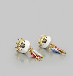 Happy King Penguin Earrings