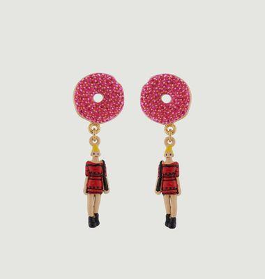 Boucles d'oreilles New-Yorkaise et Donuts
