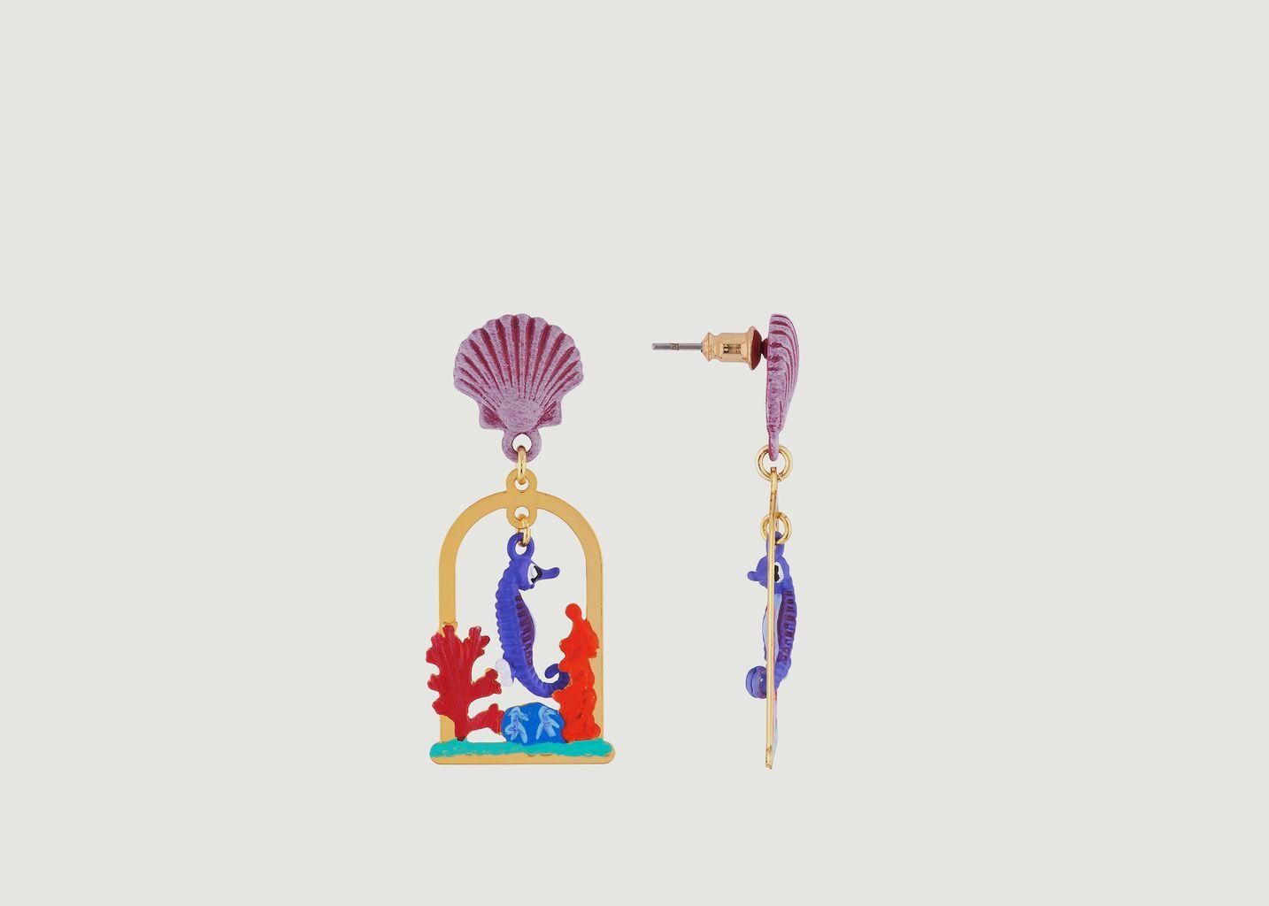 Boucles d'Oreilles Hippocampe - N2