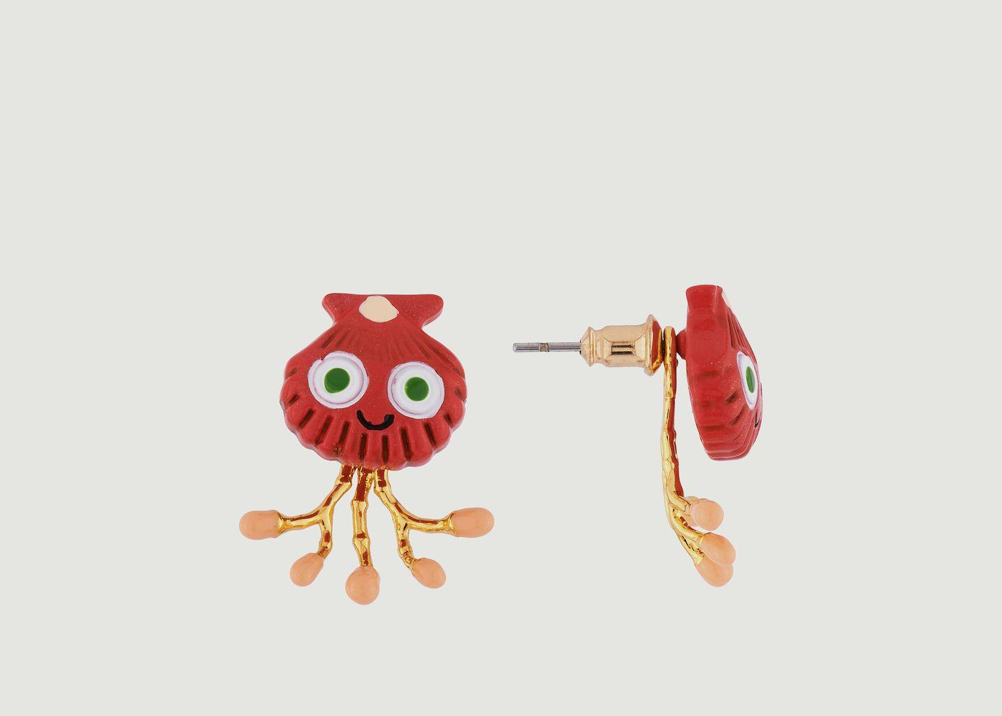 Boucles d'Oreilles Asymétriques Petit Coquillage - N2