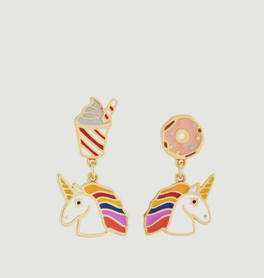 Asymmetric Unicorn Earrings
