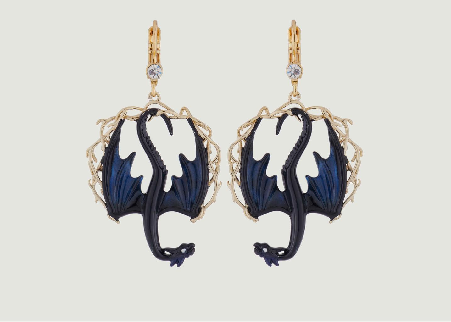 Boucles D'Oreilles Dormeuses Dragons - N2