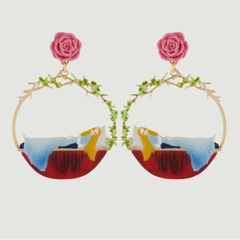 Boucles D'Oreilles Belle Endormie Et Roses - N2