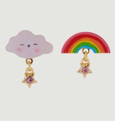Boucles d'Oreilles Nuage et Arc-En-Ciel