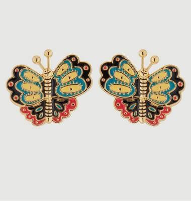 Boucles D'Oreilles Papillons Multicolores
