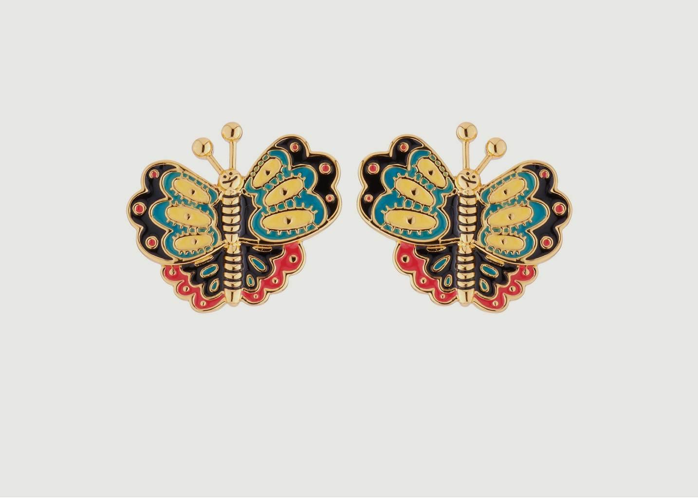 Boucles D'Oreilles Papillons Multicolores - N2