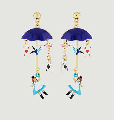 Boucles d'oreilles pendantes avec charms Alice parapluie