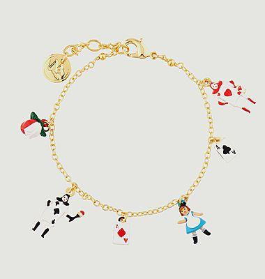 Bracelet fin avec charms Alice