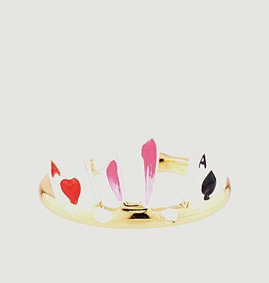 Bague ajustable oreilles de lapin et jeu de cartes