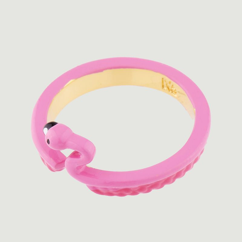 Bague ajustable Flamant Rose - N2