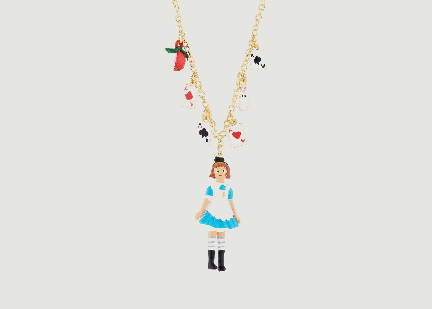 Collier Alice avec charms - N2