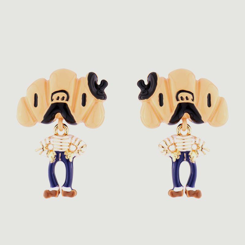 Boucles d'oreilles pendantes tiges Monsieur Croissant - N2