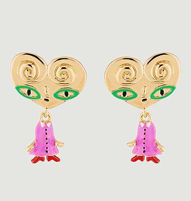 Tata Palmier dangling stud earrings
