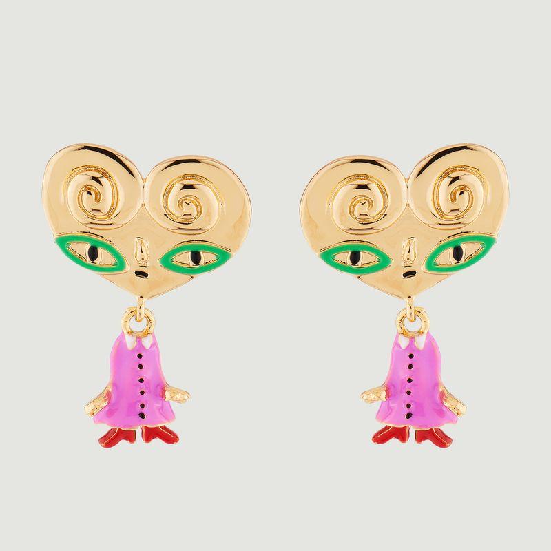 Boucles d'oreilles pendantes tiges Tata Palmier - N2