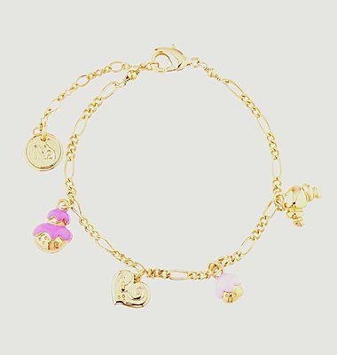 Bracelet fin avec charms pâtisseries