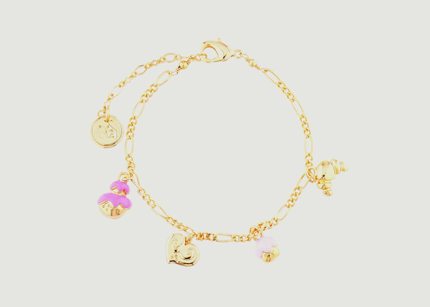 Bracelet fin avec charms pâtisseries - N2