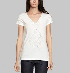 Embroidered Rabbit T-shirt
