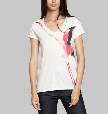 T-Shirt Flamant Rose