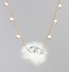Necklace Pompom Cat