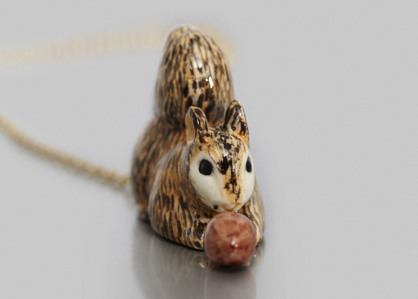 Squirrel Necklace - Nach Bijoux